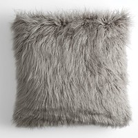 Faux Fur Mongolian Euro Pillow Cover