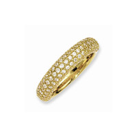 Sterling Silver Yellow Plated with CZ Ring: RingSize: 6