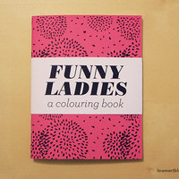Funny Ladies  A Mini Colouring Book  4 x 5 in by TeamArt on Etsy