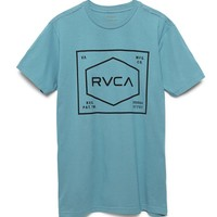 RVCA Plate T-Shirt - Mens Tee - Blue