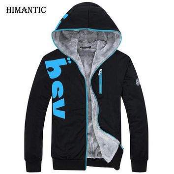Sweatshirt hoodies Men Fleece Lining Hoodies Men Hoodie Jackets And Coats Thick hombre tracksuit Sweatshirts