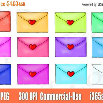 50% Off Sale Lover Letters Clipart, Love Letters Clip art, Envelopes Clipart Clip art, Valentine's Day, Graphics, PNG, Commercial-use