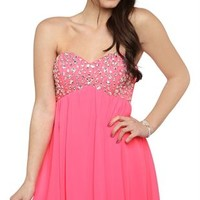 Dress with Stone Bodice and Carefree Skirt