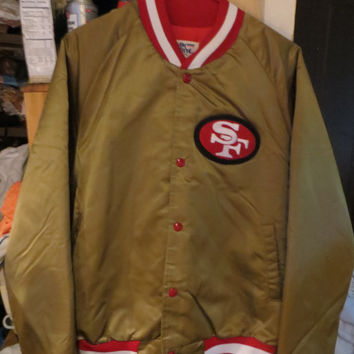 1980's San Francisco 49ers Chalk Line Jacket throwback   mint    sz large