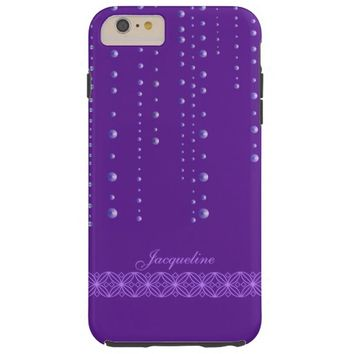 Retro Sparkle Purple Beads Curtain iPhone 6 Case