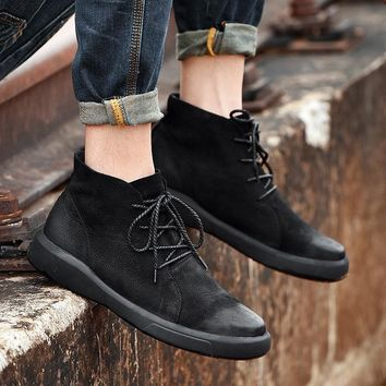 Genuine Leather Winter Waterproof Ankle Boots with Fur