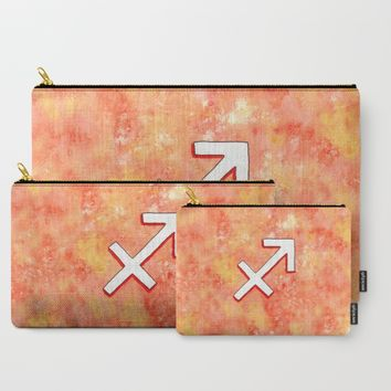 Zodiac sign : Sagittarius Carry-All Pouch by Savousepate