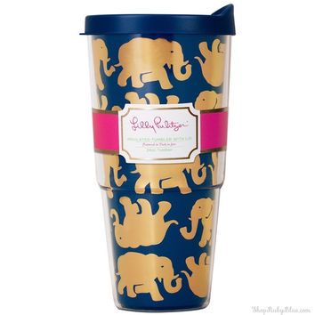 Lilly Pulitzer Insulated Tumbler w/ Lid 24 oz. in Tusk In Sun