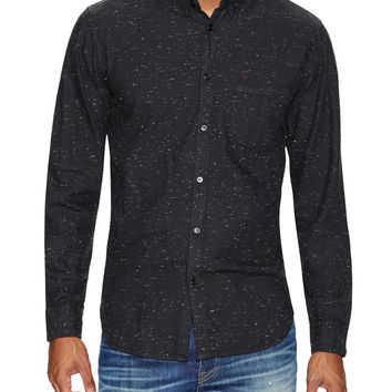 Levi's Made & Crafted Men's Black Colored Neps Sportshirt - Black -