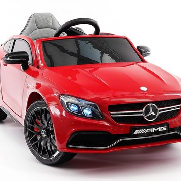 Mercedes C63S 12V Kids Ride-On Car with R/C Parental Remote | Red