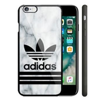 Adidas Marble White iPhone 5/5s 5c 6/6s 7/7 Plus Hard Plastic Cover Case
