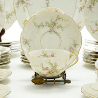Theodore Haviland New York Rosalinde China 49 Pieces  Country Cottage Porcelain China Replacement China