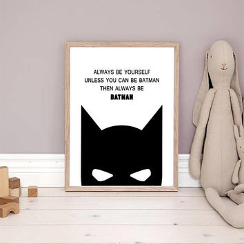 Batman Print, superhero print, batman wall art, batman poster, batman decor, batman printable, batman art, Batman Gifts Kids