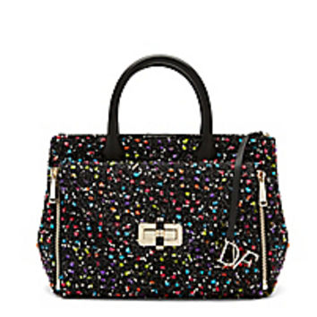 DVF Secret Agent Confetti Tweed Tote