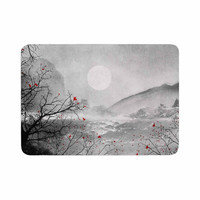 "Viviana Gonzalez ""The Red Sounds And Poems, Chap"" Gray Black Memory Foam Bath Mat"