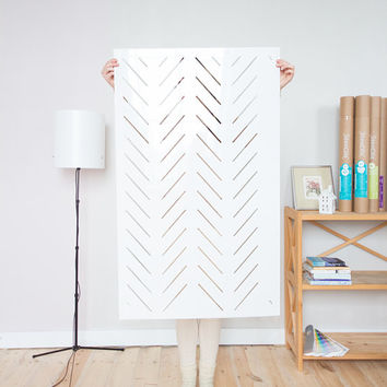 Herringbone simple - Large decorative Scandinavian wall stencil for DIY projects - Wallpaper look - Easy home decor