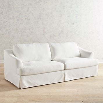 Mika Pierformance™ Ivory Slipcovered Sofa