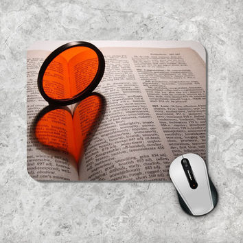 Vintage Mousepad / Mouse Pad - Book with Heart