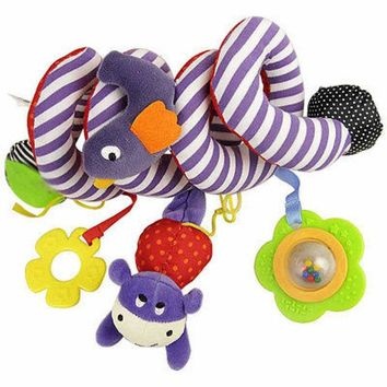 ac VLXC Free Shipping Baby Toy Plush Multipurpose Bed Circle Round with Sound Paper & Mirror Caterpillar & Bird Baby Girl Boy Toys Gift