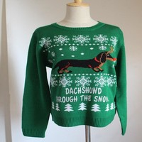 2017 UGLY CHRISTMAS SWEATER dog Womens Men Sweaters Tops Autumn Winter Clothing