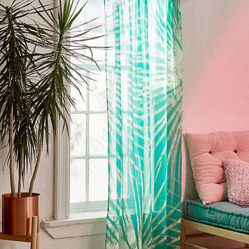 Batik Palm Print Window Curtain | Urban Outfitters
