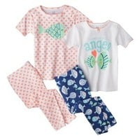 Just One You™ by Carter's® Infant Toddler Girls' 4-Piece Short-Sleeve Angel Fish Pajama Set