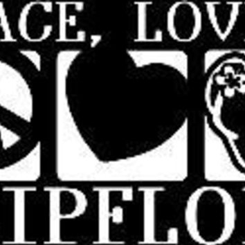 Peace Love Flip-Flops Vinyl Car/Laptop/Window/Wall Decal