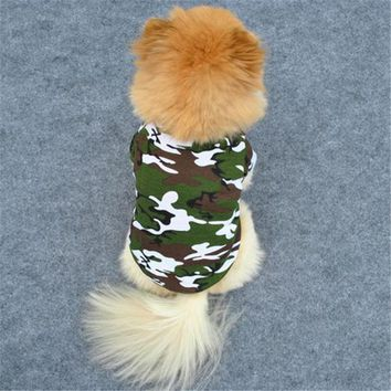 Pet Dog Cat Camo Clothes Hoody Coat Apparel Puppy Doggy Camouflage T-shirt XS-L AA