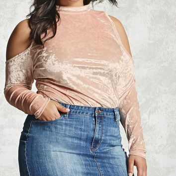 Plus Size Crushed Velvet Top