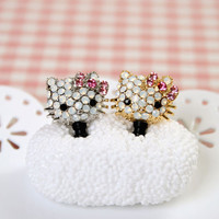 Swarovski Kitty Anti-dust Plug Earphone Cap Stopper for Smartphone iPhone