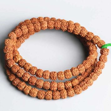 Prayer Beads Nepal Bodhi Seed old Tibetan Antique Mukhi Rudraksha