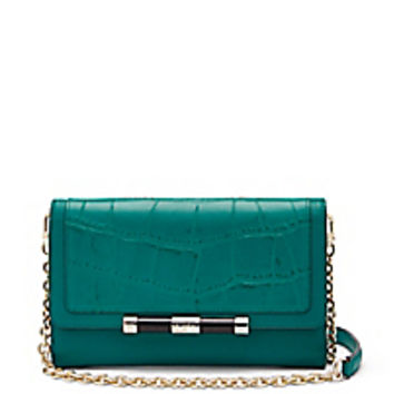 DVF 440 Currency Mini Croc Crossbody Bag