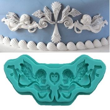 3D Baby Angles Silicone Cake Fondant Mold Baby Shower Birthday Cake Pastry
