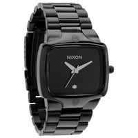 Nixon A140001 Men's The Player Black Dial Black IP Steel Bracelet Diamond Watch
