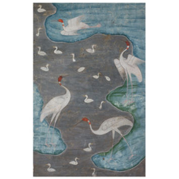 Birds in a Silver River Print