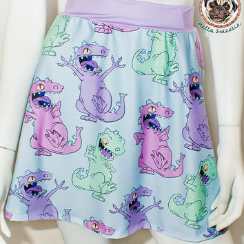 Reptar Dance Skater Skirt