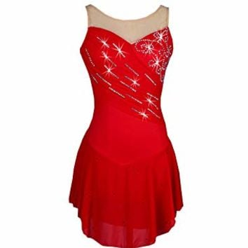 Womens Figure Skating Dress for Figure Skating, Ice Skating, Roller Skating