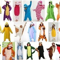 Adult Pyjamas All In One Sleepsuit Romper Onsie Animal Onesuit Kigurumi Pajamas