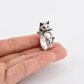 Vintage Punk Hello Kitty Cat Lover Rings