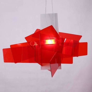 [Dec]65cm Modern White/Red Big Bang Suspension Light Pendant Lamp Ceiling Chandelier