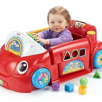 Crawl Around Car Fisher Price Baby Toy Infant Toddler Music Shapes Boy Girl Kids