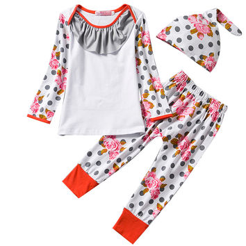 Baby Rompers Sets Baby Boy Girl Clothes Suit Unisex Girl Clothing Sets Children Boys Suits Babies Wear Set For 1 2 Years Outfits