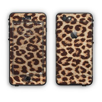 The Simple Vector Cheetah Print Apple iPhone 6 LifeProof Nuud Case Skin Set