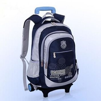 School Backpack Removable Children Trolley School Bag,backpack with wheels,kids trolley backpack,Rolling high school students Book Bag wheeled AT_48_3