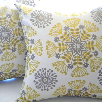 Decorative Pillow Cover Yellow Silver From Mica Blue Design
