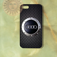 Audi -iPhone 5 , 5s, 5c, 4s, 4 case,Ipod touch, Samsung GS3, GS4 case - Silicone Rubber or Hard Plastic Case, Phone cover