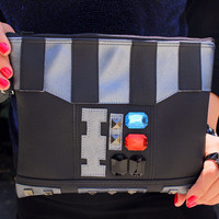 The Dark Side Clutch Bag With Wristlet | Star Wars Darth Vadar Inspired Purse | Geek Chic
