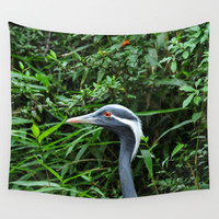 Peak - a -boo birdie Wall Tapestry by ZLAArtDesigns