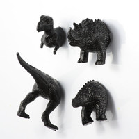 Extinct Dinosaur Magnet Set - 4 piece set -  Jet Black Dinosaurs - young boy gift