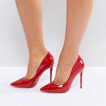 ALDO Wide Fit Red Pointed Pumps at asos.com